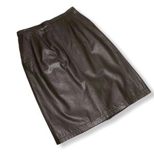 JH Collectibles Women's Leather Skirt Pencil Midi